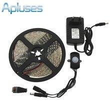 Automatic PIR Motion Sensor Switch LED Strip Set DC12V 5M SMD5050 LED Under Bed Light Bedroom