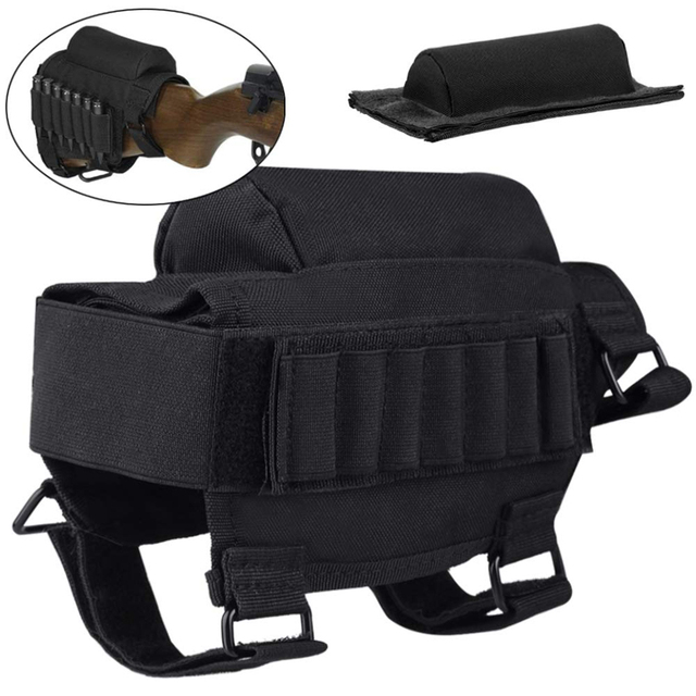 Tactical Buttstock Cheek Rest with Shell Holder for 7.62.308.300 Mag Rifle Shotgun Ammo Pouch Cartridges Hunting Gun Accessories 1