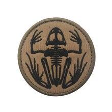 3d вышитый значок нашивка на нарукавную повязку лягушка Военная