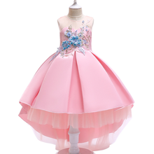 2019 Summer  Explosion Models Childrens Princess Dress Flower Mesh Gauze Wind