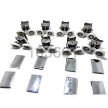 8x Twin Top Bottom Zinc Alloy Shower Door Rollers Runners Wheels 25mm Wheel