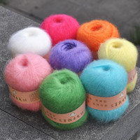 Free Shipping 250G 50g 5pcs Angola Mohair Cashmere Wool Yarn Skein For Knitting Scarf Shawl Sweater