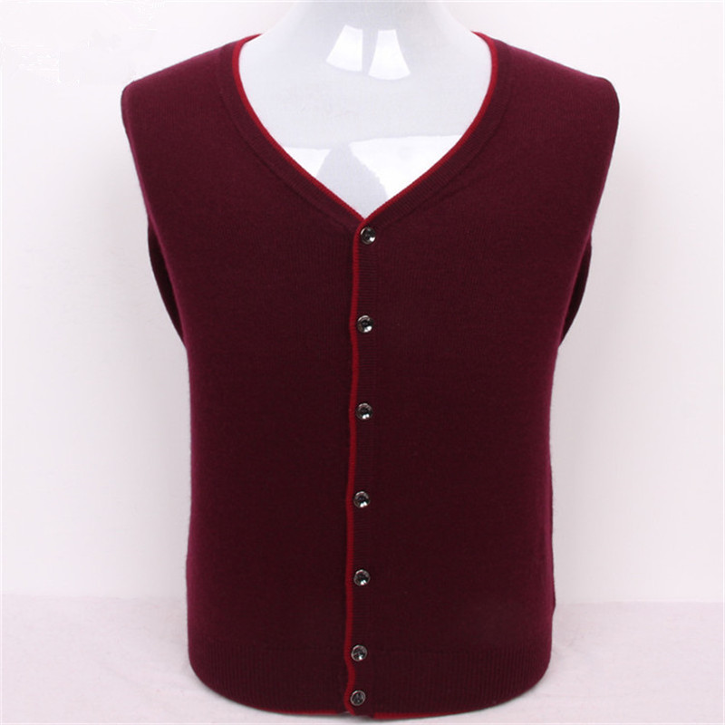 New Arrival Pure Goat Cashmere V-neck Knit Men Casual Single Breasted Thick Cardigan Sweater Solid 5color S/3XL
