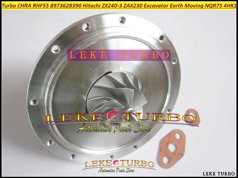 Turbo Cartridge CHRA RHF55 8973628390 114400-4260 For HITACHI ZX240-3 ZAX240 ZAX230 Excavator For ISUZU Earth Moving NQR75 4HK1 turbo cartridge chra for hitachi zx230 zx240 3 zax250 excavator npr75 nqr75 4hk1tc 4hk1 rhf55 vb440031 8973628390 turbocharger