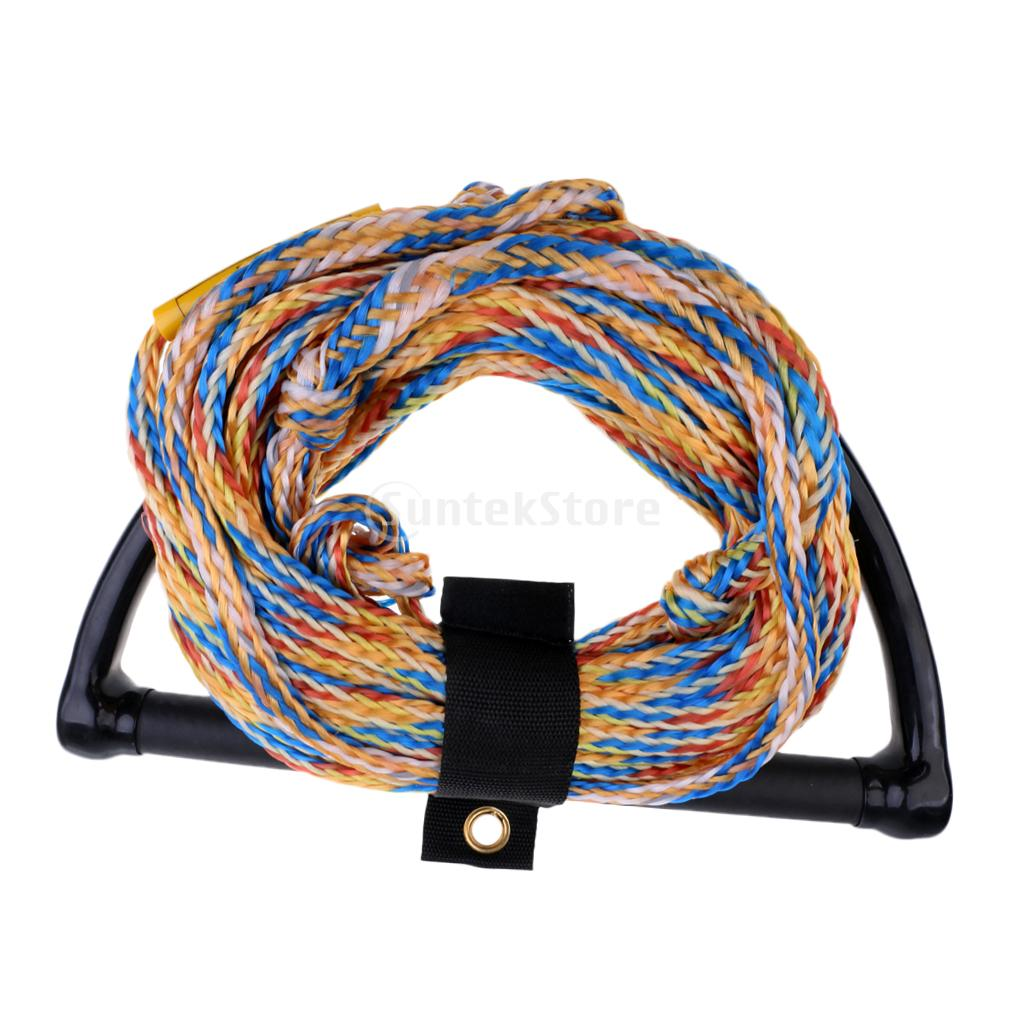 Safety 23m 75ft 2200lb 1 Section Water Ski Rope Tow Harness Leash Cord Line 15 Eva Handle Grip For Wakeboard Kneeboard Surfing In From Sports