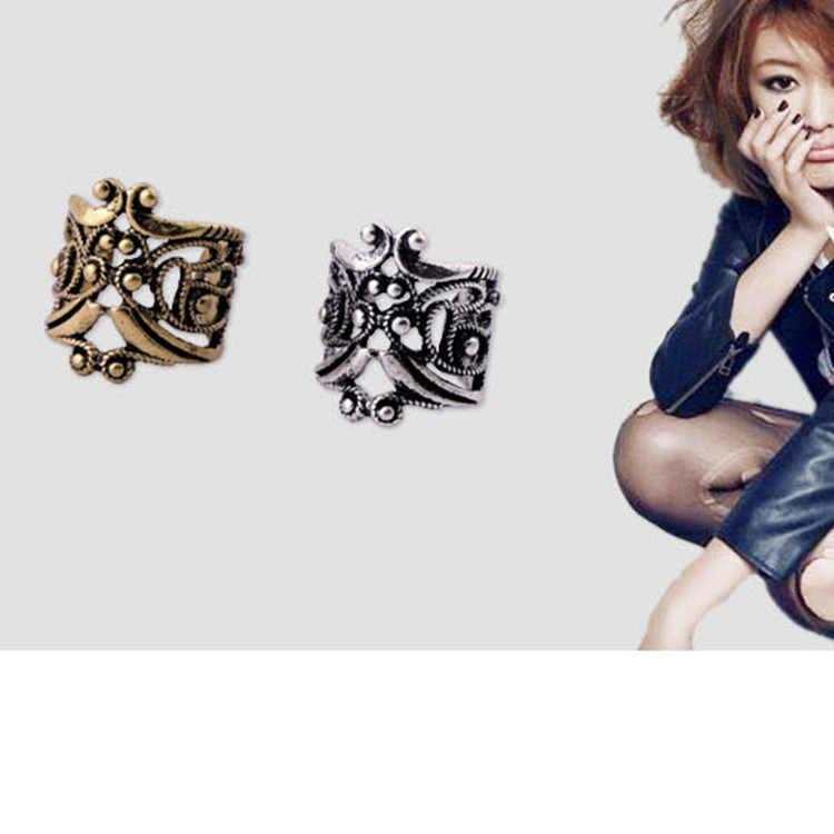 1 Pc Punk Rock Clip de oreja de pendientes No Piercing clip en bronce dorado plata hombres y mujeres Bijoux Femme Boucle D'oreille Clip