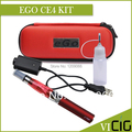 Cigarrillo electrónico EGO CE4 Kits 1.6 ml Atomizador 650,900, 1100 mah EGO T Batería CE4 Zipper el Bolso De Cuero de Primera Calidad Kits