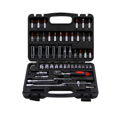 53pcs set steel auto Flexible Head sleeve combination tool ratchet wrench set of hardware car repair tools 46pcs socket set 1 4 drive ratchet wrench spanner multifunctional combination household tool kit car repair tools set