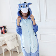 Mink flannel animal one piece sleepwear cartoon autumn and winter coral fleece long-sleeve female lounge