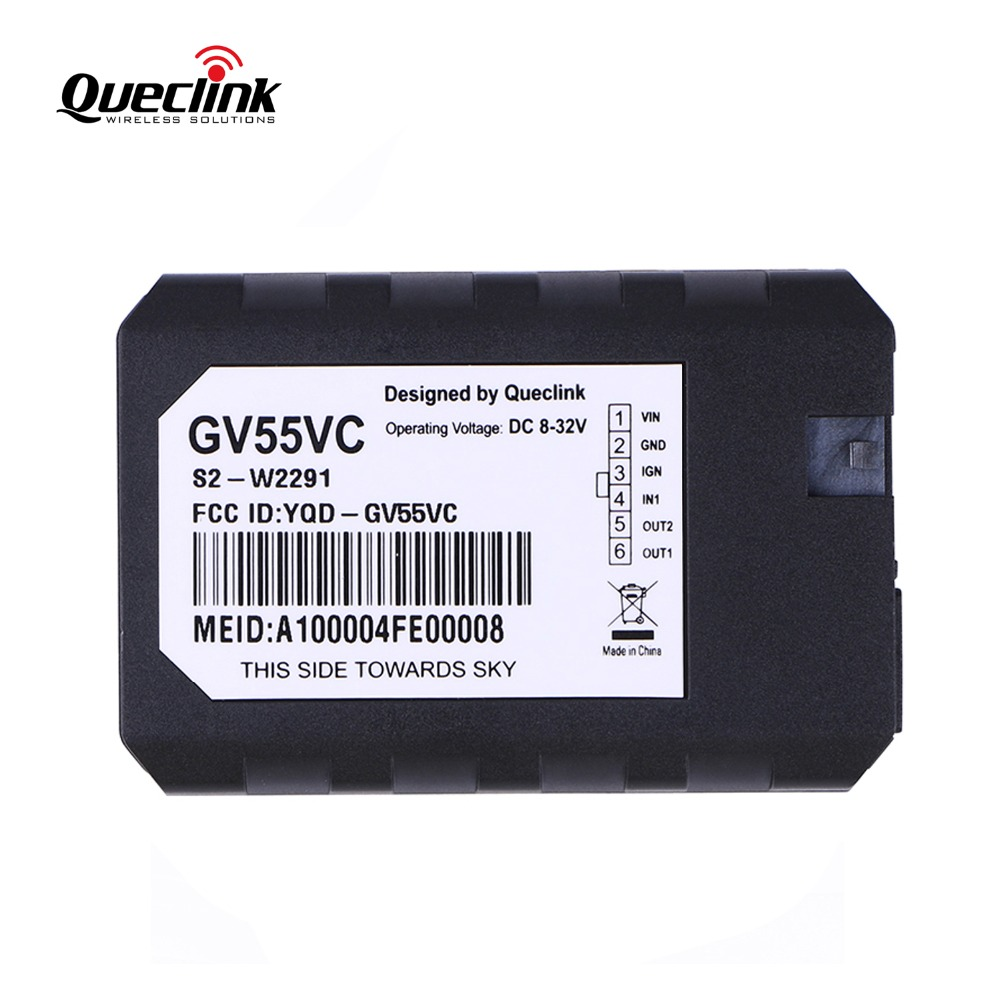 GPS Tracker Car Mini Locator Queclink GV55VC 8V to 32V DC Tracking Device Vehicle Rastreador