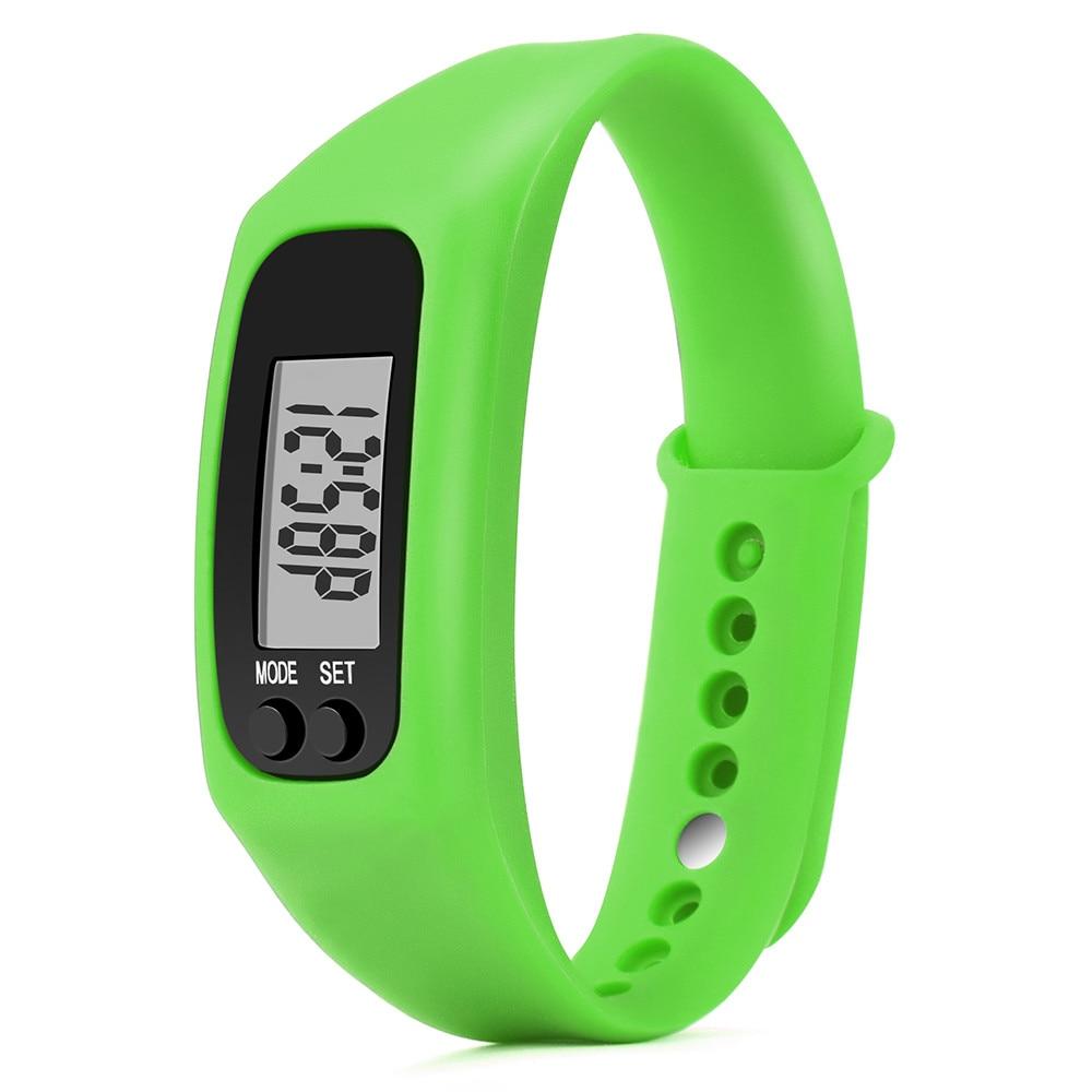 2017 Run Step Watch Bracelet Pedometer Calorie Counter Digital LCD Walking Distance Drop Shipping Y717