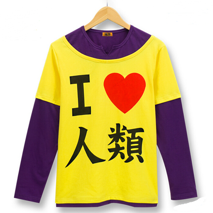 NO GAME NO LIFE cosplay T-shirt I love humanity Long-sleeved cotton t-shirt cartoon lovers