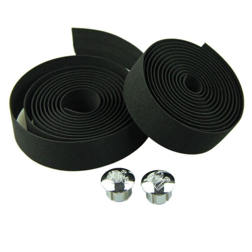 Cycling Handle Belt Bike Bicycle Cork Handlebar Tape Wrap +2 Bar Plug 4 Colors Retail&Wholesale Drop Shipping Z0527