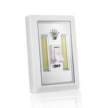 Ультра яркий магнитный мини COB светодиодный настенный светильник Ночной светильник s походная лампа на батарейках с переключателем волшебная лента для гаража, для шкафа