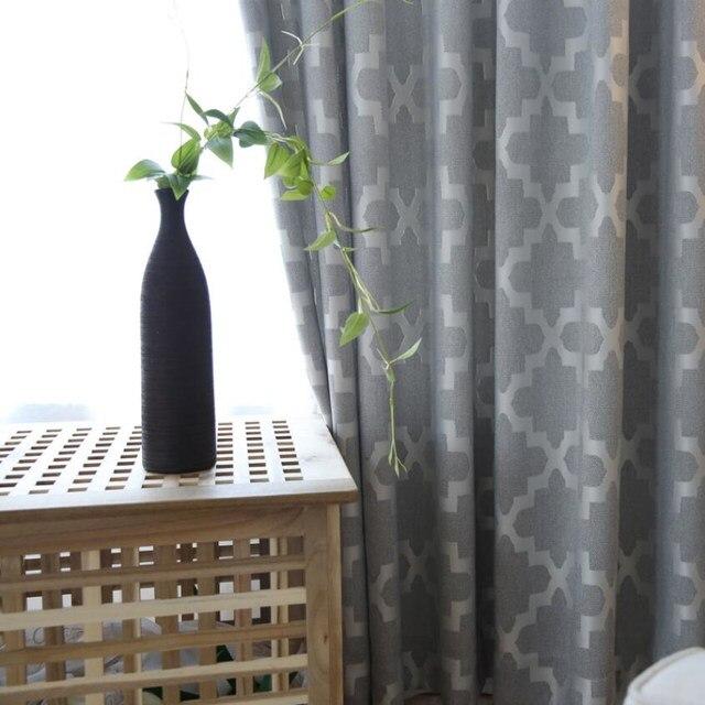Online Shop Tende Jacquard Geometrico Grigio Moderno Finestra Tende ...