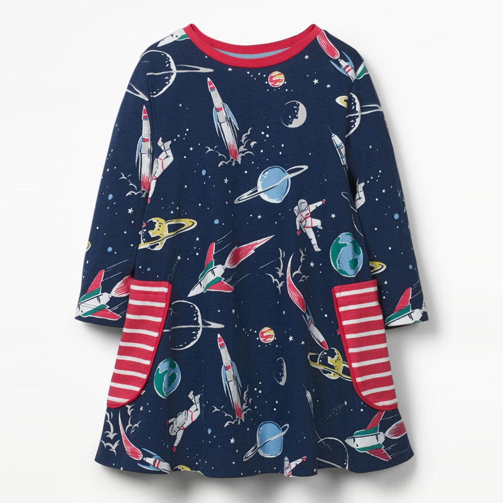 Girls, Jumping, Autumn, Costume, Sleeve, Printed