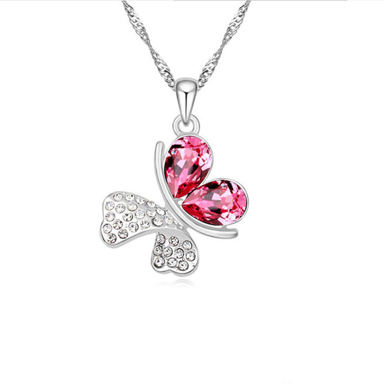 Romantic Butterfly crystal Necklace 3