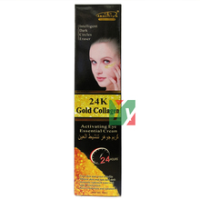 24k gold collagen activating eye essential cream whiten skin fade dark circle 50ml 12pcs/lot