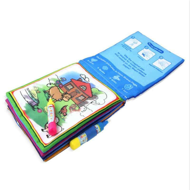 Coloring Book Kids Animals Painting Magic Water Drawing Book ...