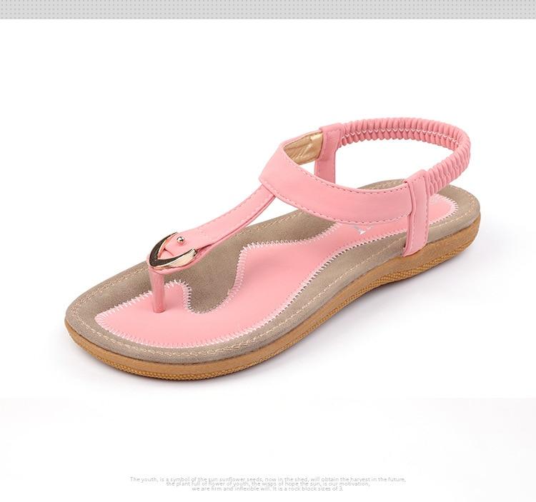 HTB1ou4UuyOYBuNjSsD4q6zSkFXan BEYARNE size 35-42 new women sandal flat heel sandalias femininas summer casual single shoes woman soft bottom slippers sandals