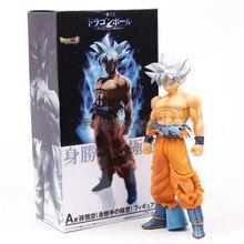 26cm PVC Dragon Ball Super Ultra Instinct GOKU Jiren Figure Migatte Action Figure Toys Model Goku White God DBZ Figurines