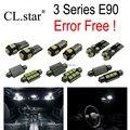 15 unid X de Canbus free Error E90 LED Kit de Luz Interior para bmw E90 320i 325i 328i 330i 335i M3 Sedan SÓLO (2006-2012)