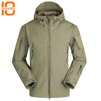 TENNEIGHT Outdoor Sport Tactical Jacket men Softshell Military Jacket Windproof Men's Hunting clothes Camping Hiking Warm Coat