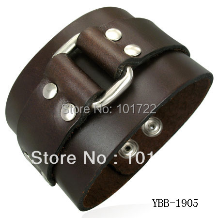 Whole 2018 Trendy Mens Leather Cuff Bracelet