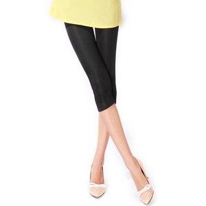 Image 2 - Nowe miękkie w jednolitym cukierkowym kolorze kobiety letnie legginsy wysokiej rozciągnięte wysokiej jakości odzież Fitness przycięte spodnie damskie akcesoria