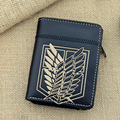 2016 NEW ATTACK ON TITAN SURVEY CORPS WINGS OF LIBERTY BULK WALLET CARTOON WALLET HOT ALAN SOLDIERS LONG