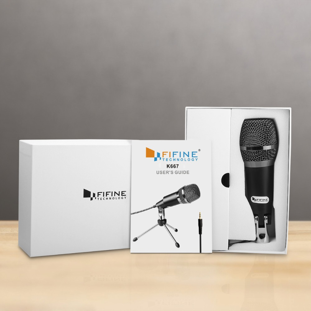 Fifine Condenser Microphone  3.5mm Plug and Play  For Computer PC Online Chat, Skype,YouTube,Google Voice Search, Games-K667 5