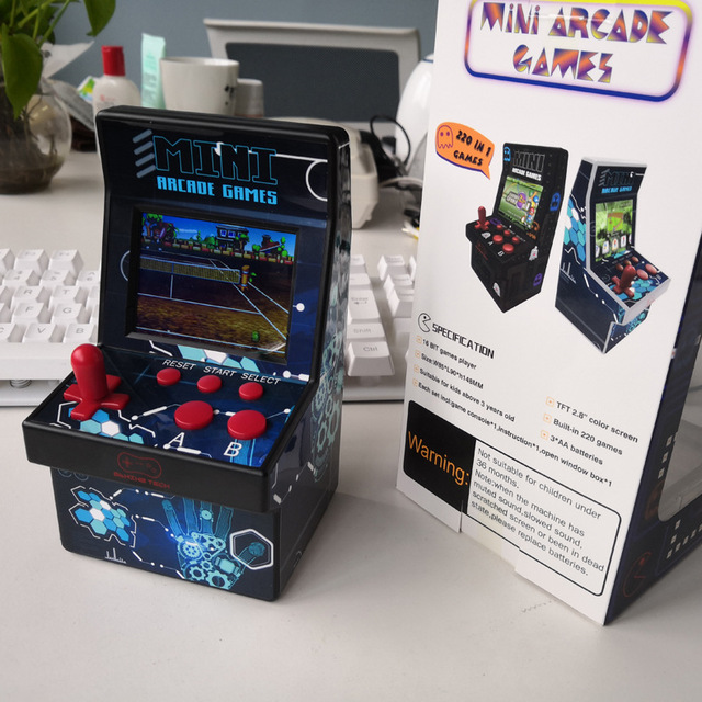 "220 in 1 Mini Arcade Game Console Retro Arcade Handheld Game Player with 220 16 bit Games 2.8"" Colorful Display Gift for Kid  1"