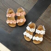 Sandales pour Filles En Cuir Souple Fleurs Princesse, chaussures pour filles Enfants sandales de plage