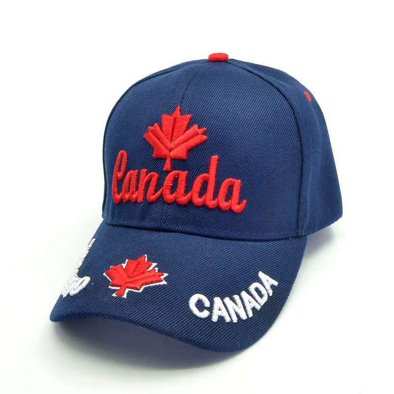 New men Canada cap 3D embroidery Canada Maple leaf baseball caps cotton adjustable snapback hat fashion caps casual hats in Men 39 s Baseball Caps from Apparel Accessories