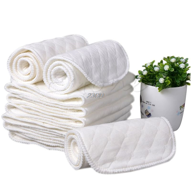 Cotton Nappy Insert Diaper-Liners Baby Reusable Soft-Cloth 3-Layers New 32x12cm Apr14 30