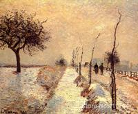 bedroom art Road at Eragny Winter Camille Pissarro paintings home decor High quality Hand painted
