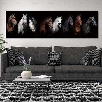 בד ציור אמנות הדפסת סוס על בד קיר אמנות תמונות ופוסטר אין מסגרת קיר אמנות ציור קישוט לסלון חדר