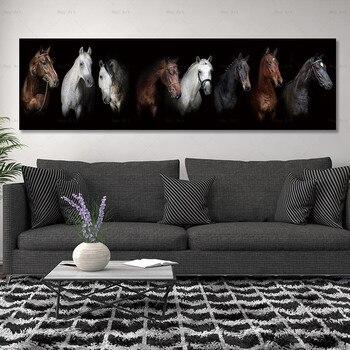 Canvas schilderij art print paard op canvas wall art pictures en poster no frame wall art Schilderen decoratie voor living kamer