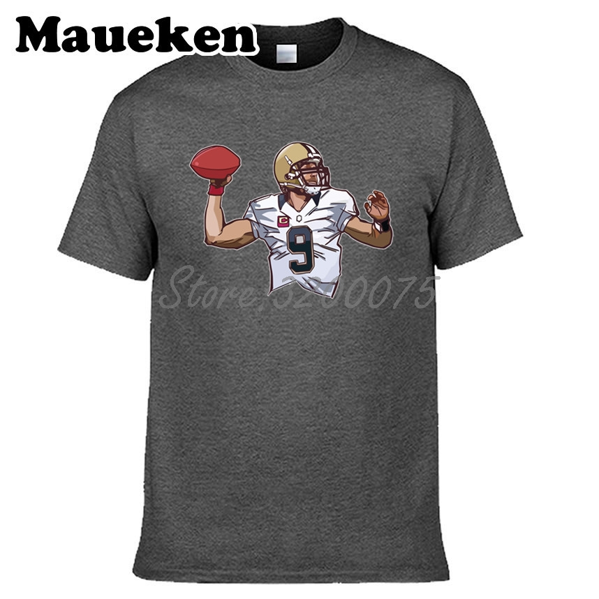 5a1cccd3 Men MVP Christopher 9 Drew Brees T-shirt New Orleans Clothes T Shirt Men's  for