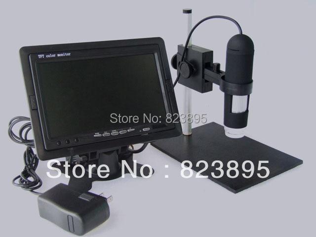 HD 800X AV Digital Microscope With Monitor CMOS Borescope 8-LED Applicable AV Port Monitors LCD TV телеприставка other av hd