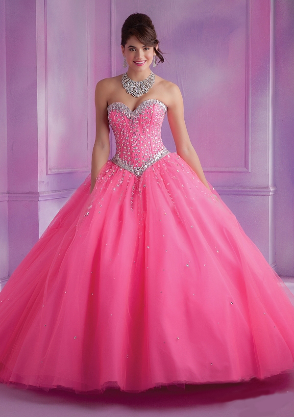 2016 Latest Design Ball Gown Quinceanera Dresses Pink With Jacket ...