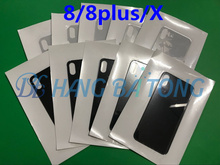 10Pcs  Original Battery Cover Rear Door Chassis Frame Back Housing cover Glass For iphone 8 4.7'' or 8 Plus 5.5'' or For X