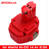 2pcs Lot Ni CD 14 4V 2000mAh Power Tools Rechargeable Replacement Battery For Makita Cordless Drill