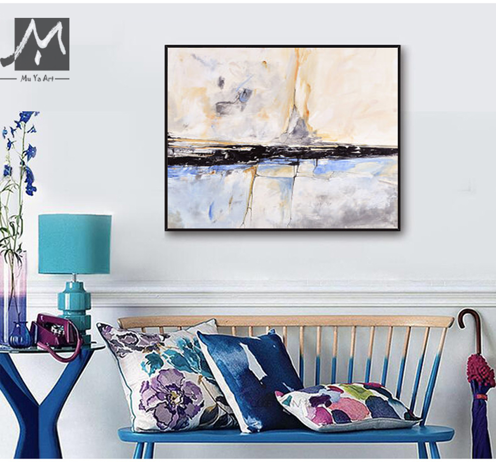MUYA Abstract Painting Acrylic Painting Abstract Art Wall Paintings Living  Room Bedroom Home Interior Beach House Decor Gift In Painting U0026 Calligraphy  From ...