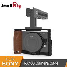 SmallRig Camera Cage With Wooden Side Handle For Sony RX100 III IV V M3/M4/M5 -2105