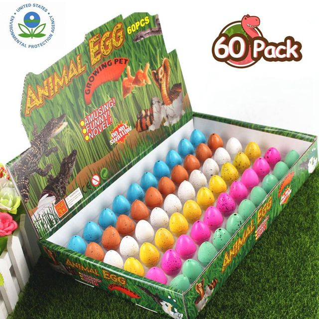 60Pcs Cute Magic Hatching Growing Dinosaur Eggs Toys Soaked Water Dinosaur Eggs Toys For Kids Learning Educational Toys GiftsLearning & Education