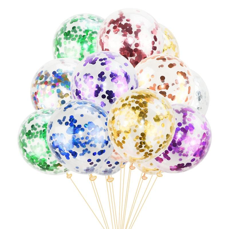 5pcs Helium Latex Balloon With Confetti Wedding Party Birthday Decor Kid/'s Gift