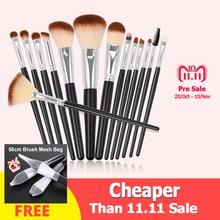 hot deal buy professional makeup brushes set 15pcs high quality makeup tools kit black