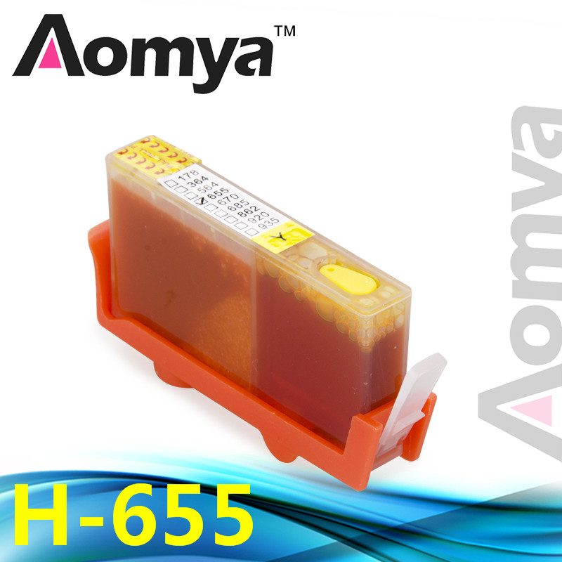 Купить с кэшбэком Aomya Full Ink Refillable Cartridge Compatible for HP 655 with Auto Reset Chips for Deskjet 3525 4615 4625 5525 6525 4 Pack