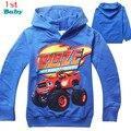 Новые 2016 мальчиков майка футболки детей детское Blaze И Монстра Машины детская одежда одежда roupas infantis menino